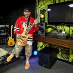 Food Network's Ace of Cakes host Duff Goldman in the completed man cave, as seen on DIY Network's Man Caves.