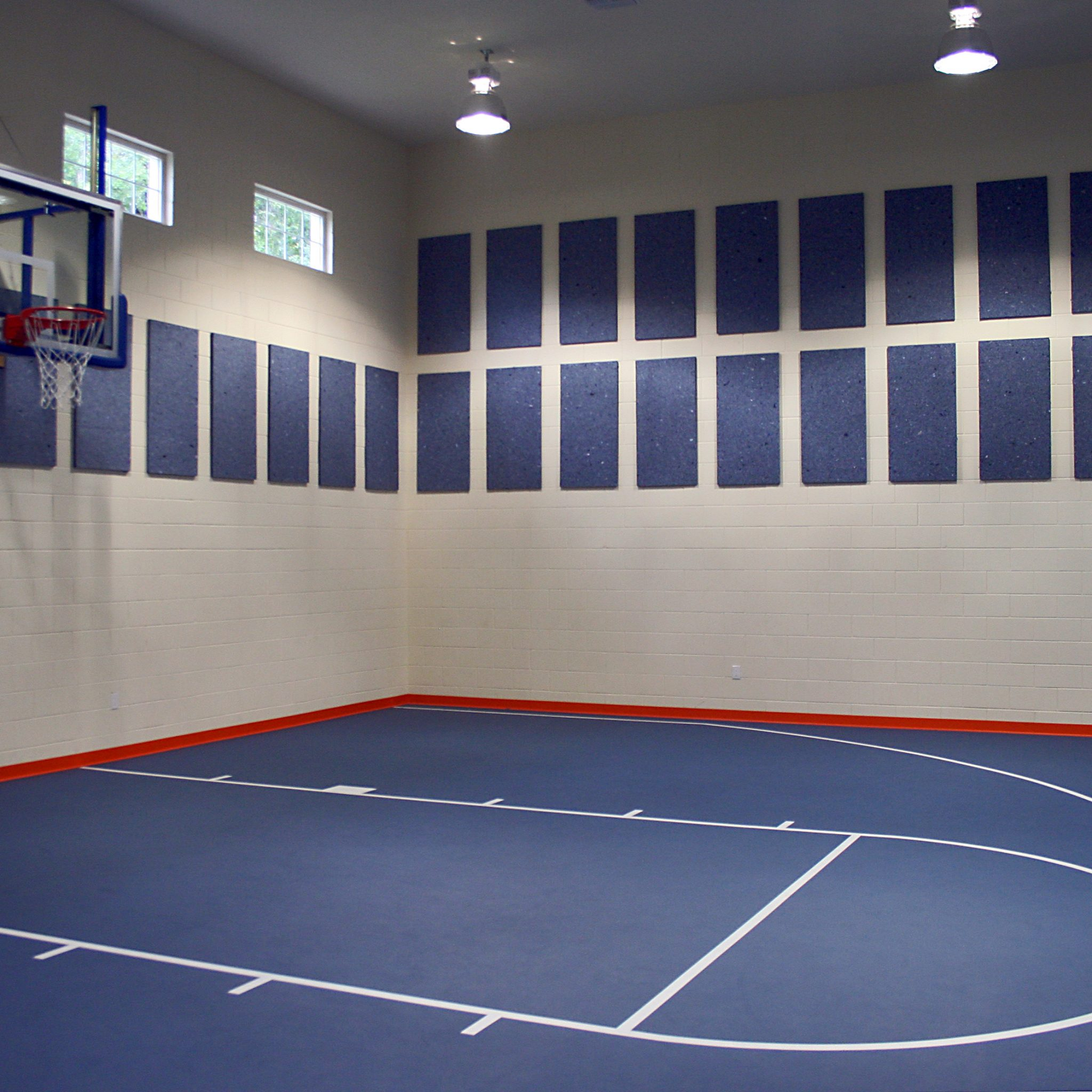 EcoSorpt® Cotton Acoustic Panels Installed On The Walls Of This  Multipurpose Room Gymnasium As An