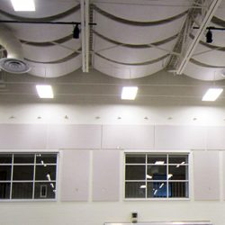 KCPC Gymnasium - Gymnasium using AlphaFlex® banners and PolyPhon™ wall panels for soundproofing.