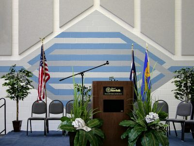 Lambert's Point Community Center - Custom cut AlphaSorb® wall panels to fit into designer's look and acoustic control.