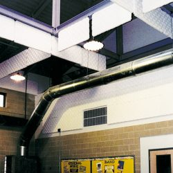 Robbins Middle School - Multipurpose room using Sonex® One Wall Panels and Sonex® One baffles by Pinta Acoustic, Inc.