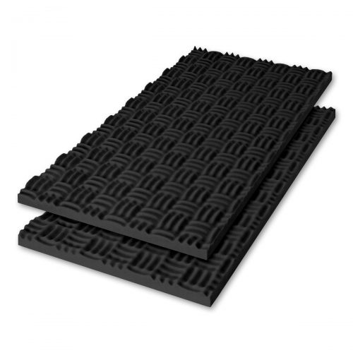 Sonex® Classic Acoustic Foam - Black (HPC Coated. Shown with optional edging coating applied.)