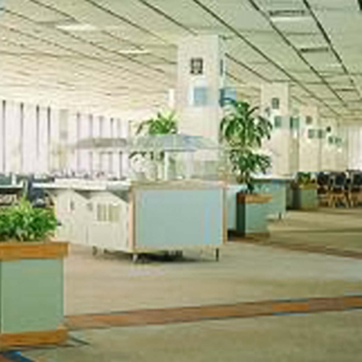 Time warners open space call center acoustical solutions open office plan call center using sonex contour ceiling tiles by pinta acoustic inc dailygadgetfo Image collections