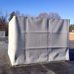 The ABBC-13EXT AudioSeal® Exterior Sound Blanket used for rooftop equipment enclosuers at a school.