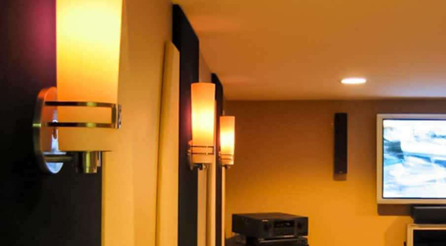 AlphaSorb® Acoustic Panels in David McLees' Basement Media Room