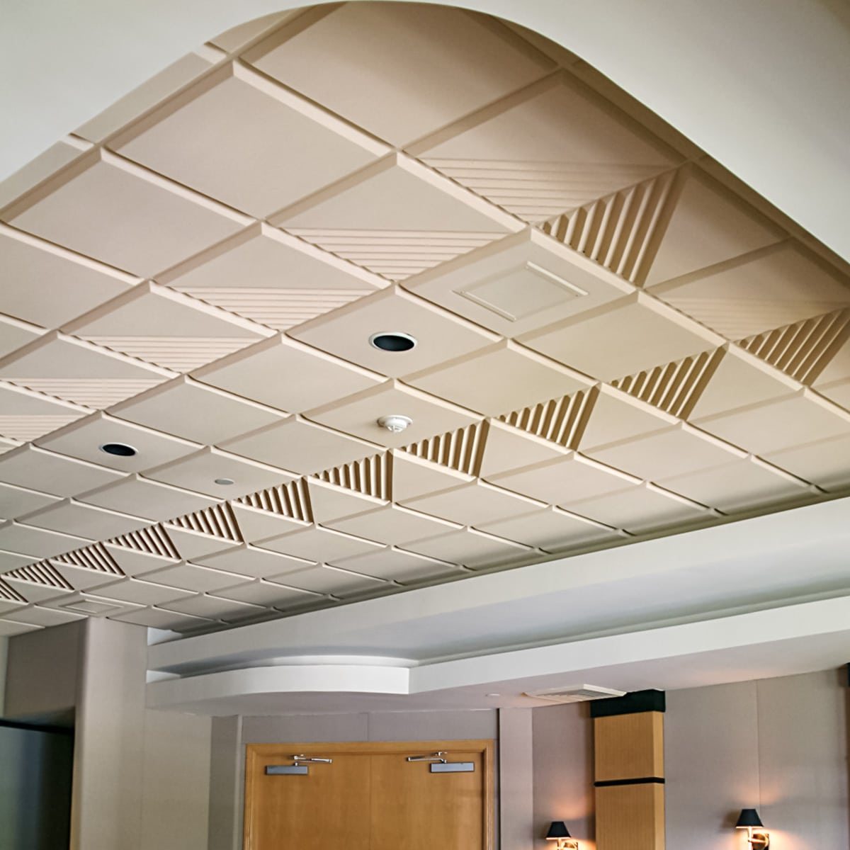 The fountains country club acoustical solutions the fountains country club sonex contour ceiling tiles by pinta acoustic inc used dailygadgetfo Image collections