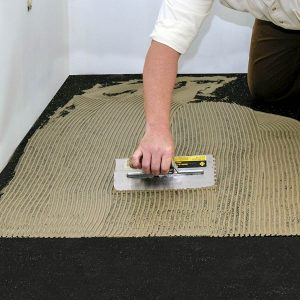 Iso-Step® Floor Underlayment -Apply adhesive to the Iso-Step using recommended trowel size.