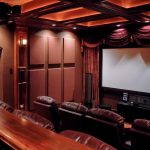 Jeff Autor's Home Theater using absorptive SoundSued Acoustic Wall Panels.