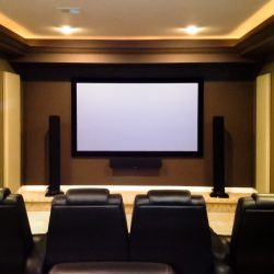 Jeff B.'s Home Theater acoustical treatment.