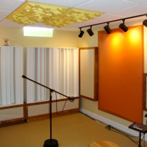 Michigan Home Studio utilizing sound diffusers in a home studio.