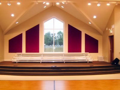 Blairland Baptist Church - AlphaSorb® panels on rear wall of stage area.