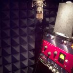Donald James' Voice-Over Studio with pyramid acoustical foam.