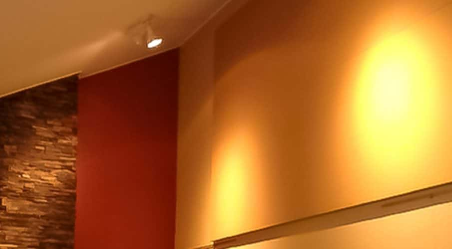 Los Patios - Colors and sizes of AlphaSorb® wall panels fit in with restaurant décor.