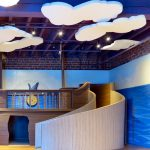 Amazement Square Children's Museum - Whisperwave® Ceiling Cloud Installation (Shape cut on site by installer)