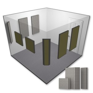 AlphaSorb® Pro Acoustic Panel Room Kit - Small - 10x10 - Grey Mix