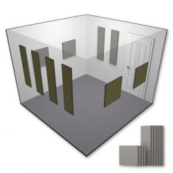 AlphaSorb® Acoustic Panel Room Kit - Small - 10x10 - Grey Mix