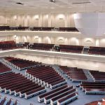 AcoustiWall Fabric Stretch System in a large worship facility.