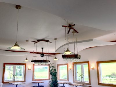 Rockbridge Vineyard Tasting Room - Whisperwave® Ceiling Clouds were installed to reduce the reverbertaion and echo, improving the customer's experience.