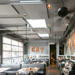Pearl Raw Bar installed AlphaSorb® Acoustic Panels direct to the ceiling to improve the room acoustics.