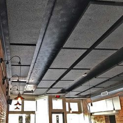 Louie's Hanover Square Restaurant mounted two-inch-thick PolySorpt® Acoustic Panels to improve the sound in the dining area for their patrons.