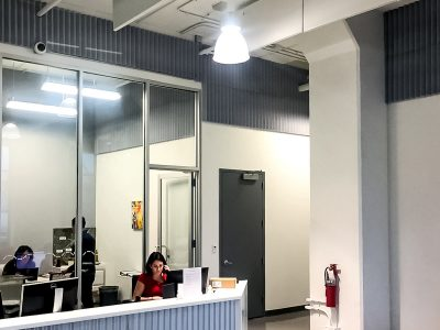 Hugo Neu Realty Management installed acoustic foam to create comfort and improve worker productivity.