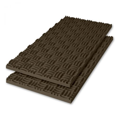 Sonex® Classic Acoustic Foam - Brown Black (Premium HPC Coated. Shown with optional edging coating applied.)