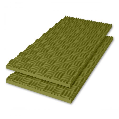 Sonex® Classic Acoustic Foam - Olive Green (Premium HPC Coated. Shown with optional edging coating applied.)