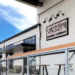 Väsen Brewing Company improved the acoustics in their commercial taproom by installing two inch thick fabric wrapped acoustical panels up in the ceiling.