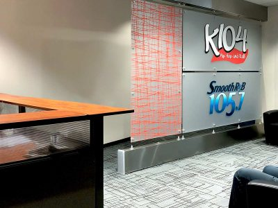 The K104 Radio Station employed our installation services for our IAC Acoustics Noise-Lock® Doors to block sound between their production spaces.