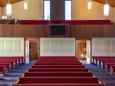 First Baptist Church of Ironton mounted AlphaSorb® FR701 Acoustic Panels to reduce reflections in their sanctuary to improve the sound quality of the sermon and music.