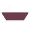 "SoundSuede™ Ceiling Cloud 4'x4'x2"" in Boysenberry"
